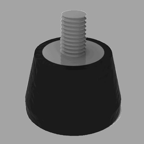 Apoyos elásticos para vibradores