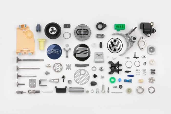 piezas para automoción elaboradas con sistemas eléctricos