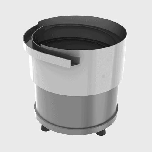Unidades de posicionamiento vibratorias Vibrador circular + cuba cilíndrica
